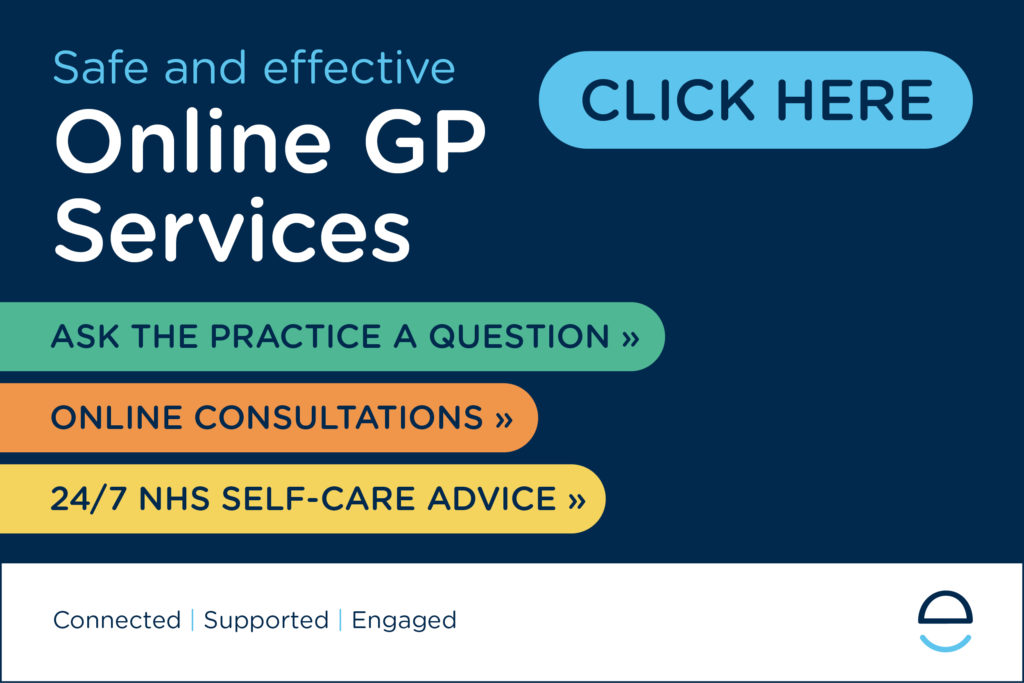 banner reading click here for online gp services